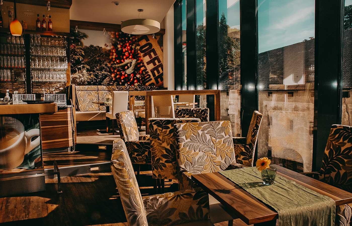Das Cafe Die Kaffeemacher in der Stadtgalerie in Schwaz in Tirol