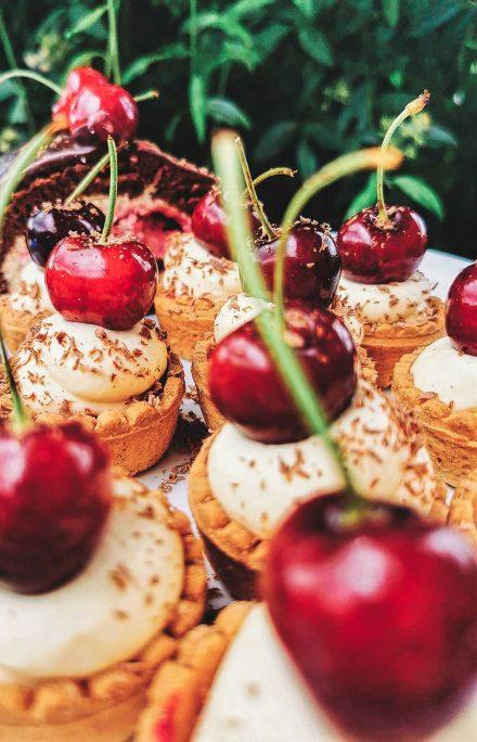 Desserts im Cafe Die Kaffeemacher in der Stadtgalerie in Schwaz