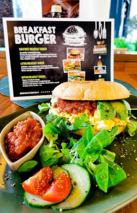 Latina Frühstück-Burger schlank, intensiv, bunt = die pure Lebensfreude